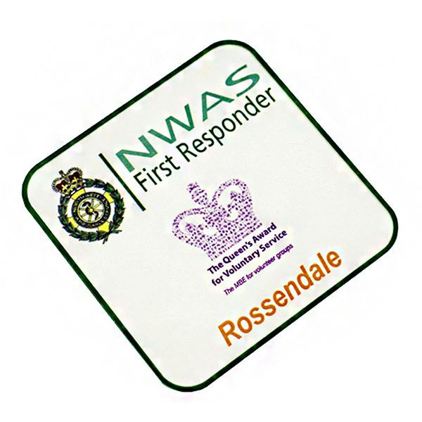 Square Coaster with First Responder Artwork